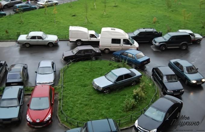 Проблема с парковкой в Пушкино.